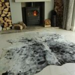 Black & White Leather Cowhide Rug 190cm x 173cm