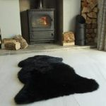 Black Single Sheepskin