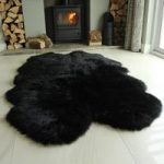 Black Quads Sheepskin Rug