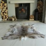 Brown Reindeer Hide Rug Medium