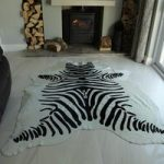 Zebra Hide Rug Design Off White
