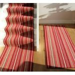 Red Stair Carpet Striped Runner Lima 70cm