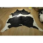 Black & White Leather Cowhide Rug 220cm x 196cm