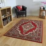 Shiraz Traditional Red Medallion Round Rug 1020-R55