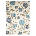 Havana Blue & Cream Pretty Floral Print Rug 9635 – 70cm x 240cm (2ft 4