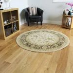 Round Non Shed Soft Cream Brown Traditional Circluar Rugs – Ziegler