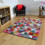 Multicolour Geometric Modern Rug Dynamic Medium