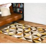 Gold Geometric Contemporary Rug Velvetino 90X150