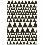 Onix Rug 160×230 cm Triangles Black