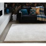 Aden Ivory Wool & Viscose Plain Rug