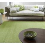 Alanya Green Plain Viscose Rug