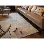 Banha Cream & Multi Modern Wool Rug