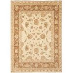 Whitby Natural & Brown Wool Traditional Runner Rug