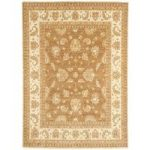 Whitby Brown Traditional Wool Runner Rug