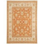 Whitby Orange Wool Traditional Runner Rug