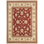 Whitby Red Traditional Wool Runner Rug