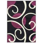 Valera Black & Purple Modern Rug