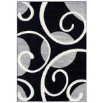 Valera Black & Grey Modern Carved Rug