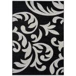 Valera Black & Grey Modern Damask Rug