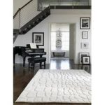 Vallejo Cream Pebbles Wool Modern Rug