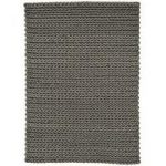 Santa Ana Grey Chunky Knitted Wool Rug