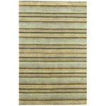 Sassari Blue & Green Stipe Wool Rug