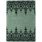 Salerno Grey Baroque Wool, Viscose Vintage Rug