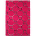 Salerno Red Trellis Wool, Viscose Modern Rug