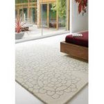 Salerno Crochet Cream Modern Wool, Viscose Rug