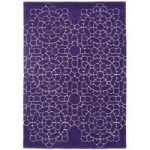 Salerno Purple Crochet Modern Wool, Viscose Rug
