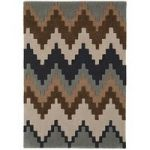 Salerno Chocolate Brown Wool, Viscose Modern Rug