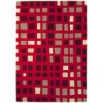 Salerno Red Wool & Viscose Geometric Rug