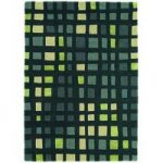 Salerno Green Geometric Wool &Viscose Rug