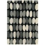 Salerno Grey Pebbles Wool, Viscose Modern Rug