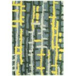 Salerno Grey & Yellow Ladder Wool, Viscose Rug