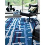 Salerno Blue Ladder Wool, Viscose Rug