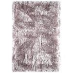 Oriel Pink Gloss Circle Shag Area Rug