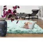 Oriel Ocean Blue Circle Shag Area Rug