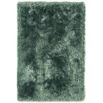 Oriel Petrol Blue Shaggy Circle Rug
