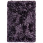 Oriel Purple Modern Circle Shag Area Rug