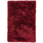 Oriel Gloss Red Circle Shaggy Rug