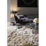 Oriel Sand Circle Super Shaggy Rug