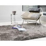 Oriel Silver Circle Shaggy Area Rug