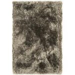 Oriel Taupe Circle Shaggy Area Rug