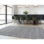 Madison Black Geometric Cotton & Wool Rug