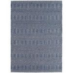 Madison Blue Geometric Cotton & Wool Rug