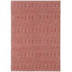 Madison Red Geometric Cotton & Wool Rug