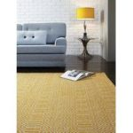 Madison Mustard Geometric Cotton & Wool Rug