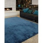 Lapaz Dark Teal Blue Shaggy Rug