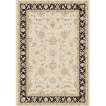 Dayton Natural & Black Traditional Rug